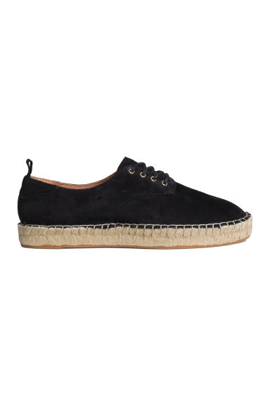Suede espadrilles - Black - Ladies | H&M CN